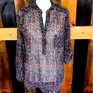 Alice Blue for Stitch Fix sheer tunic top, size M
